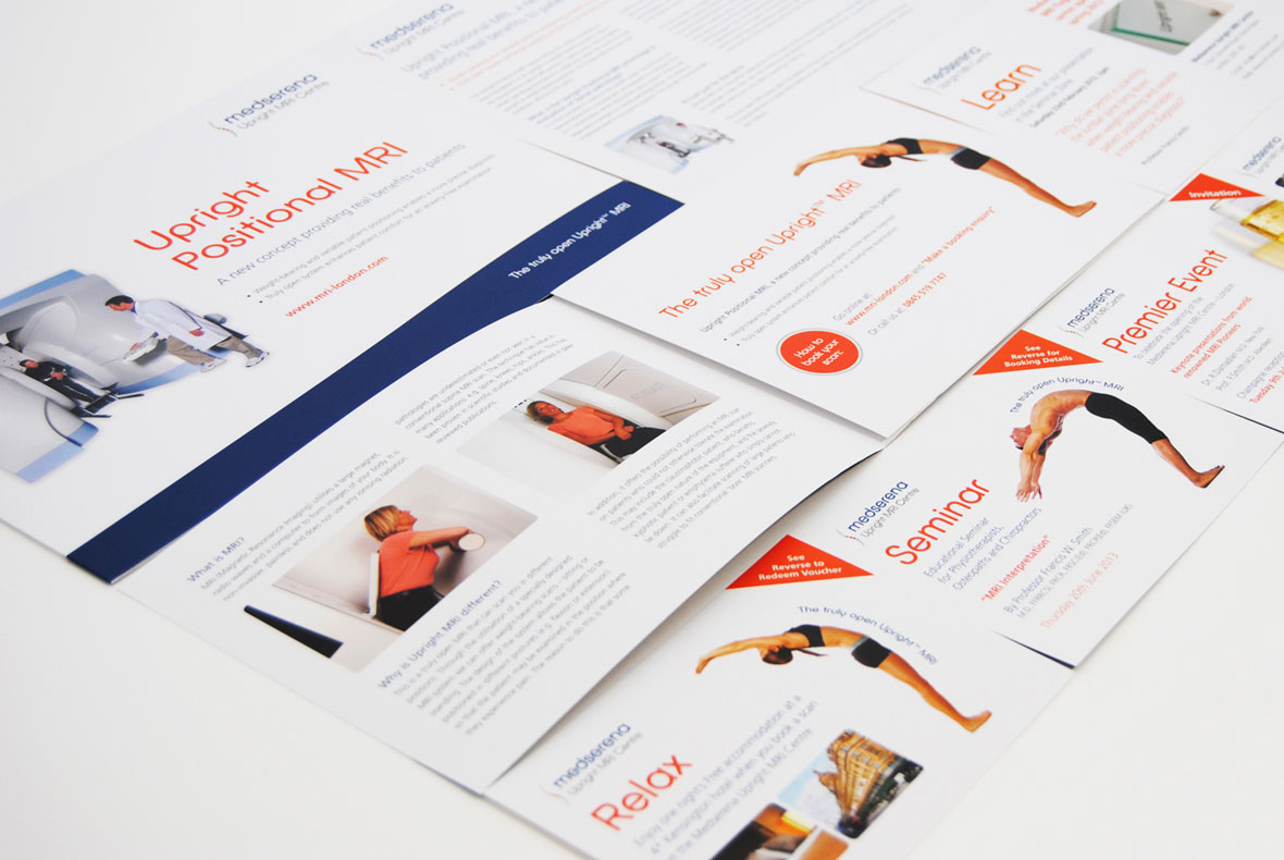 Brochure Design for Medserena Upright MRI Centre