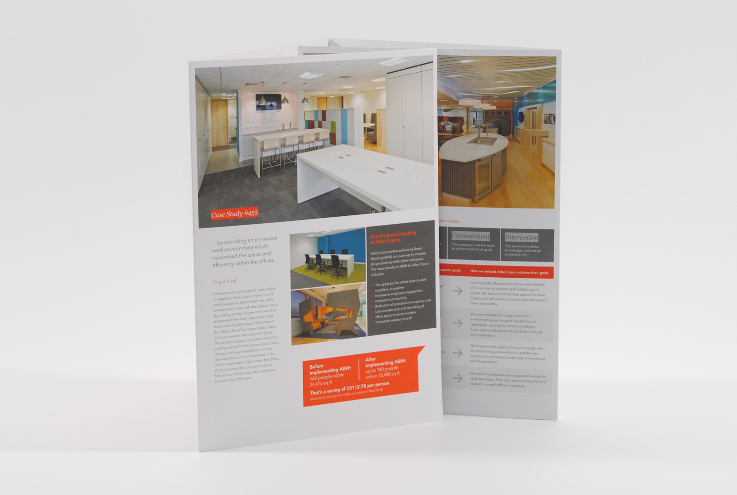 Envoplan Gatefold Brochure Design Showing Inside Pages