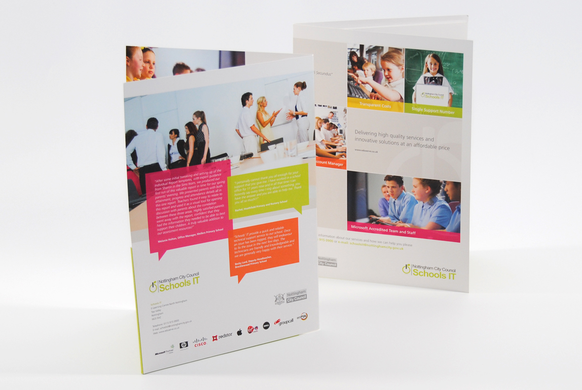 Nottingham Council Schools IT Brochure Design